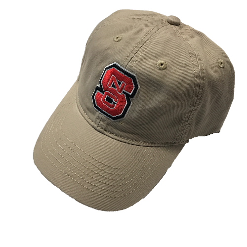 NC State Wolfpack Khaki Block S Adjustable Hat