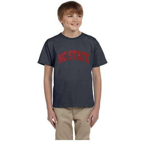 NC State Wolfpack Youth Charcoal Arch T-shirt