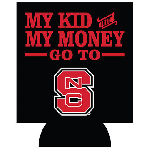NC State Wolfpack My Kid & Money Black Coozie