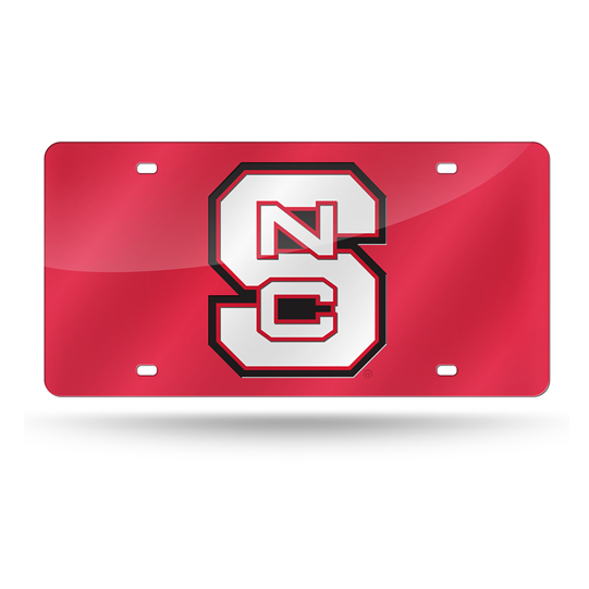 NC State Wolfpack Red Laser Tag License Plate