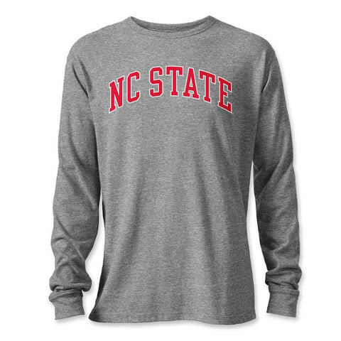NC State Wolfpack Grey Victory Falls Long Sleeve T-Shirt