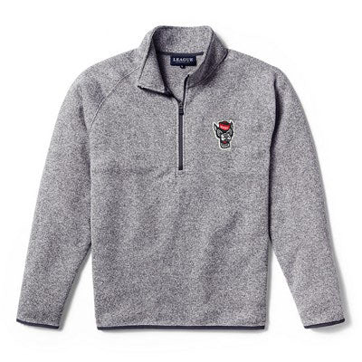 NC State Wolfpack Heather Grey Wolfhead Saranac 1/4 Zip Jacket
