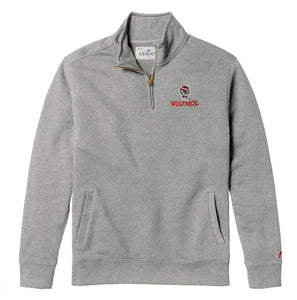 NC State Wolfpack Victory Grey Wolfhead Stadium 1/4 Zip Pullover