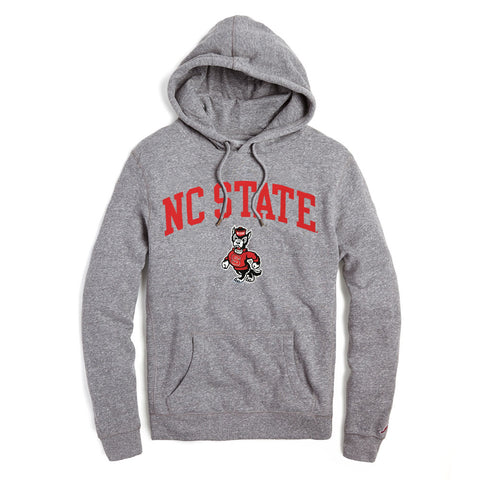 NC State Wolfpack Heather Grey Strutting Wolf Hooded Sweatshirt