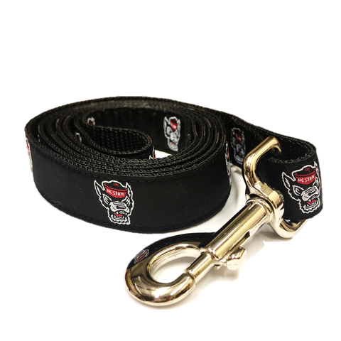 NC State Wolfpack Black Wolfhead Dog Leash