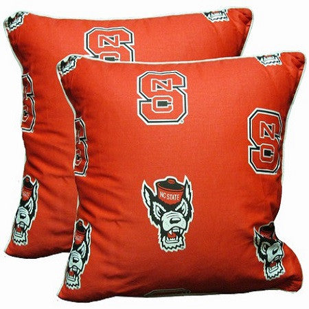 "NC State Wolfpack Red 16""x16"" Decorative Pillow"