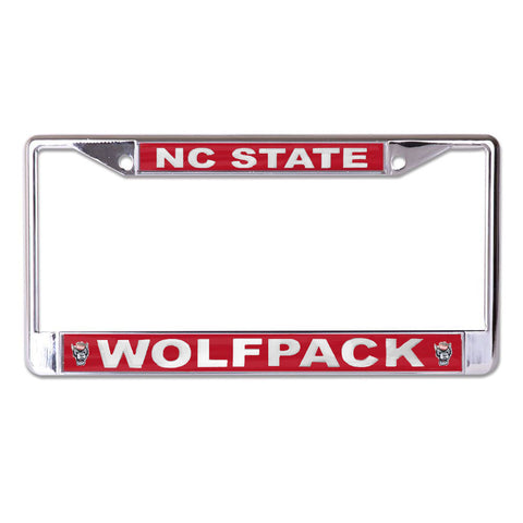 NC State Wolfpack Red Wolfhead License Plate Frame