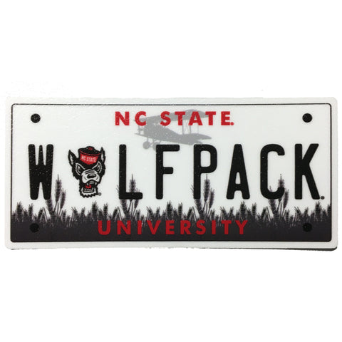NC State Wolfpack License Plate Rugged Sticker