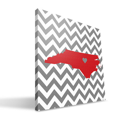 NC State Wolfpack 12X12 Love Canvas Art