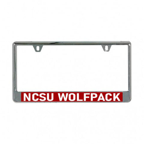 NC State Wolfpack Red NCSU Metal License Plate Frame