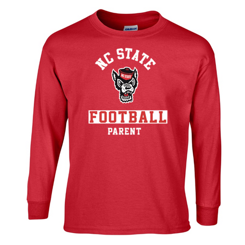 "NC State Wolfpack ""Pack Parent"" Football Long Sleeve T-Shirt"