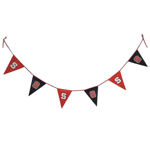 NC State Wolfpack 6 Pack of Red and Black Block S Pennant