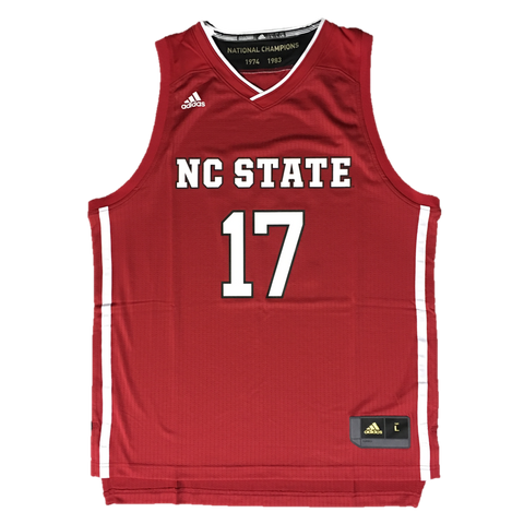 NC State Wolfpack Adidas Red 2017 March Madness Basketball Jersey