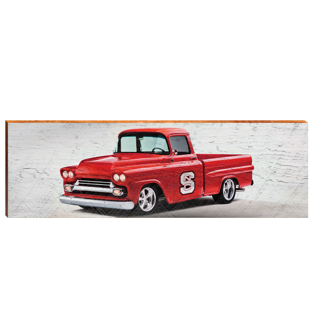 NC State Wolfpack Truck Mill Wood Art