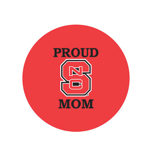 NC State Wolfpack Proud Mom Fabric Button