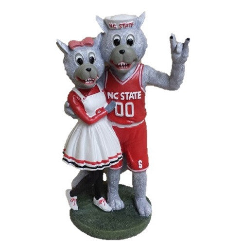 "NC  State Wolfpack 8"" Mr. and Mrs. Wuf Statue"