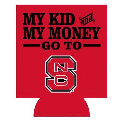 NC State Wolfpack Red My Kids and Money Koozie