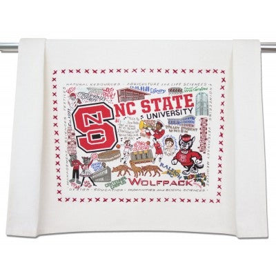 NC State Wolfpack Geographic Dish Towel