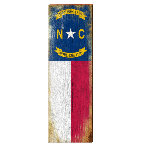 North Carolina State Flag Mill Wood Art