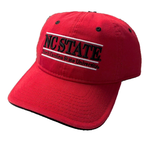 NC State Wolfpack Red NC State Bar Design Hat