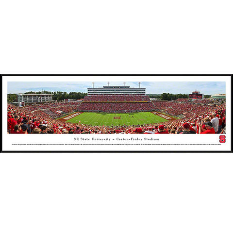 NC State Wolfpack 50 Yard Line Panoramic Framed Print