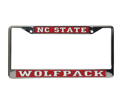 NC State Wolfpack Red Domed Wolfpack License Plate Frame