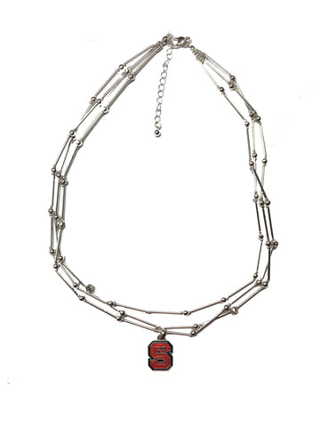 NC State Wolfpack Red Block S Stella Necklace