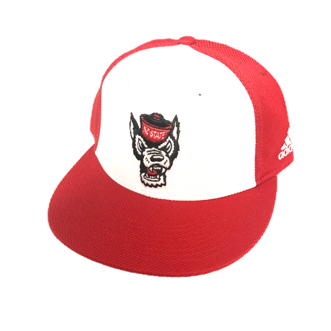 NC State Wolfpack Adidas 2020 Red Wolfhead Mesh On Field Hat