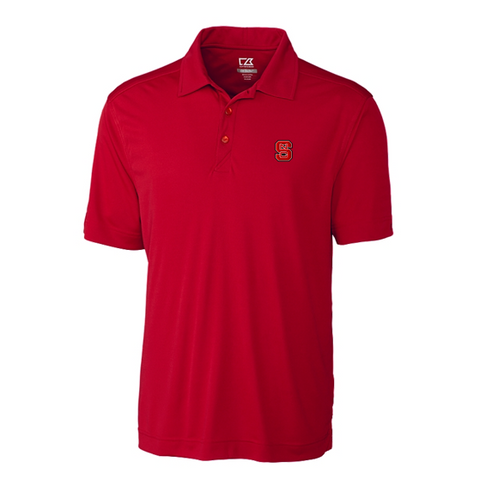 NC State Wolfpack Cutter & Buck Red DryTec Northgate Polo