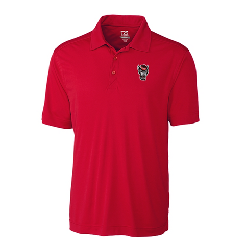 NC State Wolfpack Cutter & Buck Red Wolfhead Northgate Polo