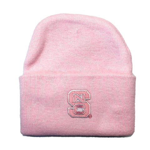 NC State Wolfpack Newborn Baby Knit Hat