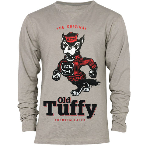 NC State Wolfpack Heather Grey Old Tuffy Slub Long Sleeve T-Shirt