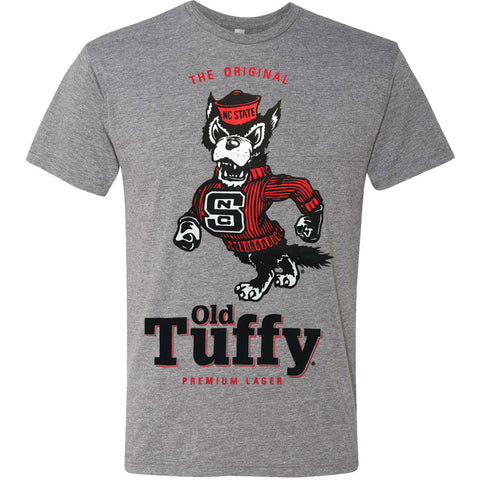 NC State Wolfpack Grey Tri-Blend Old Tuffy T-Shirt