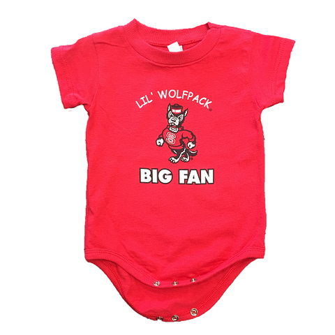 NC State Wolfpack Infant Red Lil Wolfpack Onesie