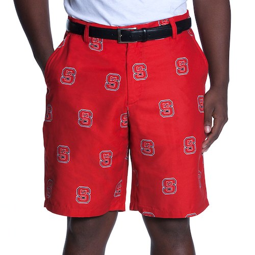 NC State Wolfpack Ovation Red Block S Shorts