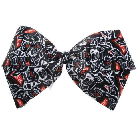 NC State Wolfpack Black All Over Wolfhead Bow