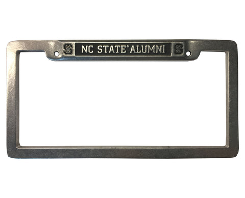 NC State Wolfpack Pewter Alumni Block S License Plate Frame
