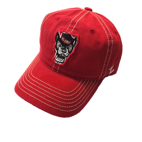 NC State Wolfpack Red Patriarch Wolfhead Adjustable Hat