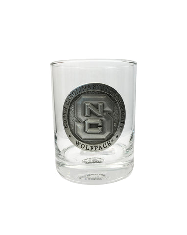 NC State Wolfpack Heritage Pewter Capitol Old Fashion Glass