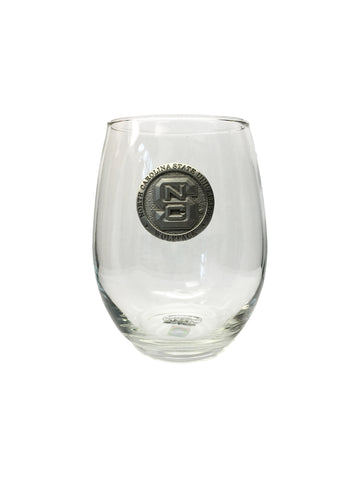 NC State Wolfpack Heritage Pewter Capitol Stemless Wine Goblet