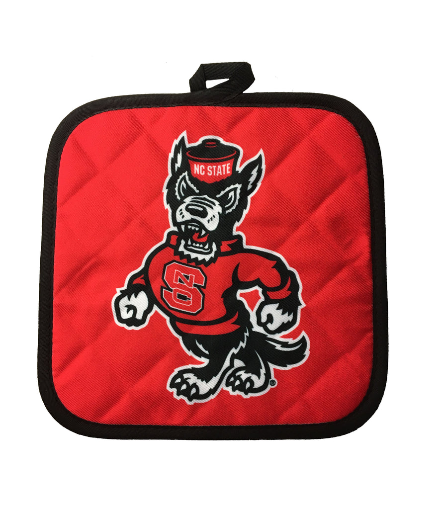 NC State Wolfpack Red Strutting Wolf Sublimated Pot Holder