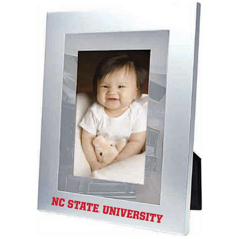 "NC State Wolfpack 4""x6"" Brushed Aluminum Vertical Picture Frame"