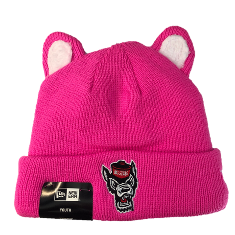 NC State Wolfpack New Era Youth Pink Dart Cuffed Beanie