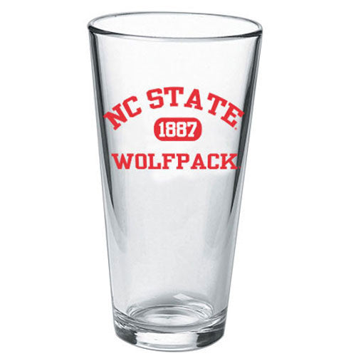 NC State Wolfpack Classic Design 1887 16oz Pint Glass