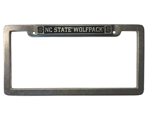 NC State Wolfpack Pewter Block S License Plate Frame