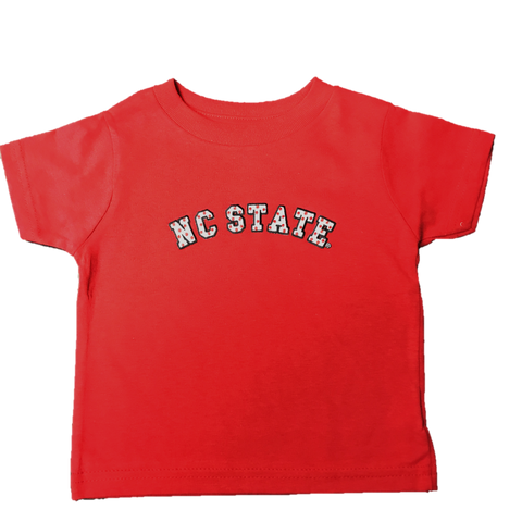 NC State Wolfpack Toddler Red Polka Dot Tackle Twill T-Shirt