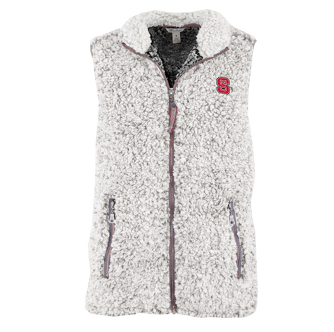 NC State Wolfpack Women's Full Zip Poodle Vest