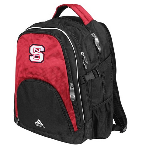 NC State Wolfpack Adidas Red and Black Backpack