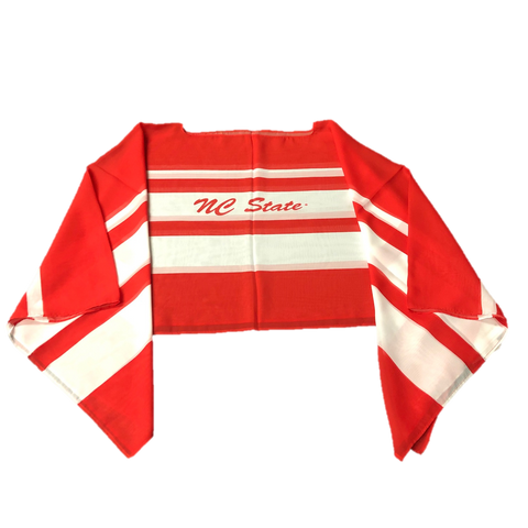 NC State Wolfpack Women's Red and White Striped Peyton Sheer Poncho