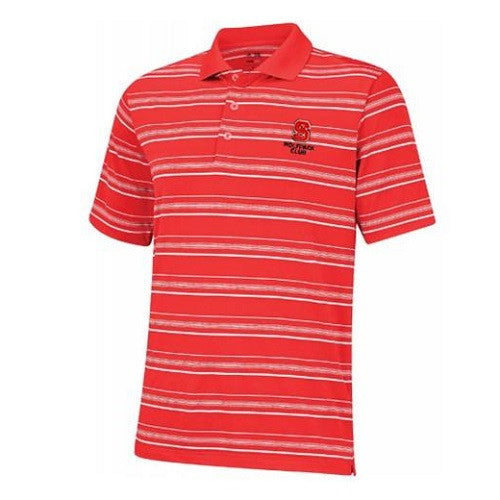NC State Wolfpack Puremotion Stripe Wolfpack Club Polo